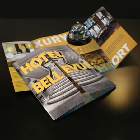 Gate Fold Brochure Printing Gloss Matte Uncoated